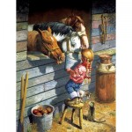 Puzzle  Sunsout-36048 XXL Teile - Working Girl