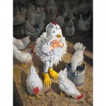 Puzzle  Sunsout-36062 XXL Teile - New Rooster in Town