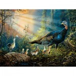 Puzzle  Sunsout-36205 XXL Teile - Turkey in the Sun Rays