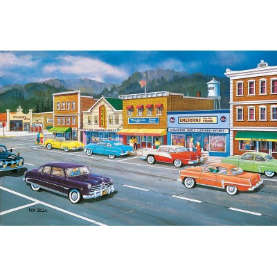 Puzzle Sunsout-37770 Ken Zylla - Main Street of Memories