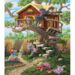 Puzzle  Sunsout-38788 XXL Teile - Girl's Clubhouse
