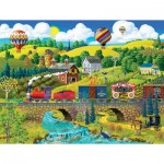 Puzzle  Sunsout-38930 XXL Teile - Big Top Circus Train