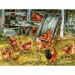 Puzzle  Sunsout-39181 XXL Teile - Pickin Chickens