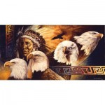 Puzzle  Sunsout-40078 XXL Teile - Lakota Twilight