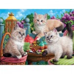 Puzzle  Sunsout-42909 Kitten Tea Party