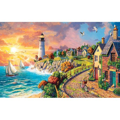 Puzzle Sunsout-42952 Image World - Lighthouse by the Sea