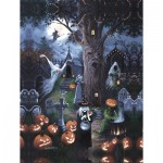 Puzzle  Sunsout-45402 XXL Teile - Halloween Night