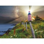 Puzzle  Sunsout-45701 Michael Blanchette Photography - Night over West Quoddy Lighthouse