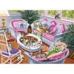 Puzzle  Sunsout-45897 Higgins Bond - Ten Tabbies