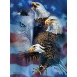 Puzzle  Sunsout-46530 Steven Michael Gardner - Patriotic Eagles