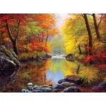 Puzzle  Sunsout-48535 Charles White - Autumn Sanctuary