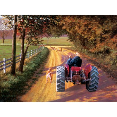 Puzzle Sunsout-50161 Lambson's Wildlife Art - A Ride Down Memory Lane