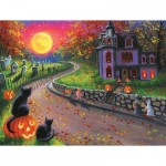 Puzzle  Sunsout-52015 XXL Teile - On a Spooky Night
