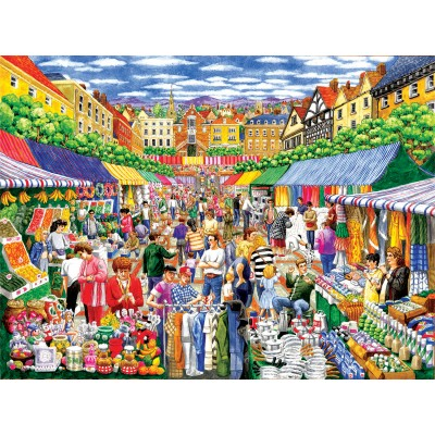 Puzzle Sunsout-52415 Gale Pitt - A Day at the Marketplace