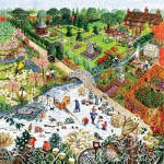 Puzzle  Sunsout-52421 XXL Teile - Four Seasons Garden