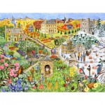 Puzzle  Sunsout-52439 XXL Teile - English Country Life through the Seasons