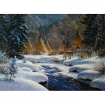 Puzzle  Sunsout-52965 Mark Keathley - Winter Intruders