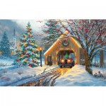 Puzzle  Sunsout-53052 Mark Keathley - Chirstmas Crossing
