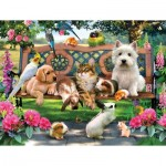 Puzzle  Sunsout-54942 XXL Teile - Pets in the Park