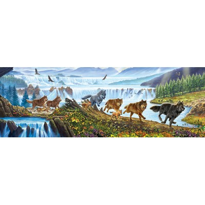 Puzzle Sunsout-57356 XXL Teile - Wolves on the Run