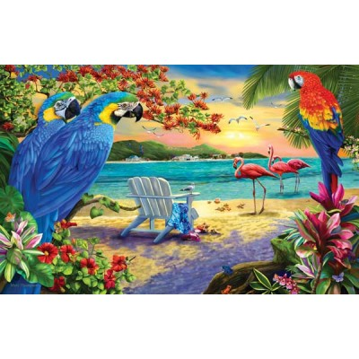 Puzzle Sunsout-58260 Mary Thompson - Secluded Beach