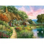 Puzzle  Sunsout-58284 Dominic Davison - Sunset Country Cottage