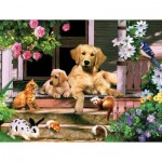 Puzzle  Sunsout-59326 XXL Teile - Summer on the Porch