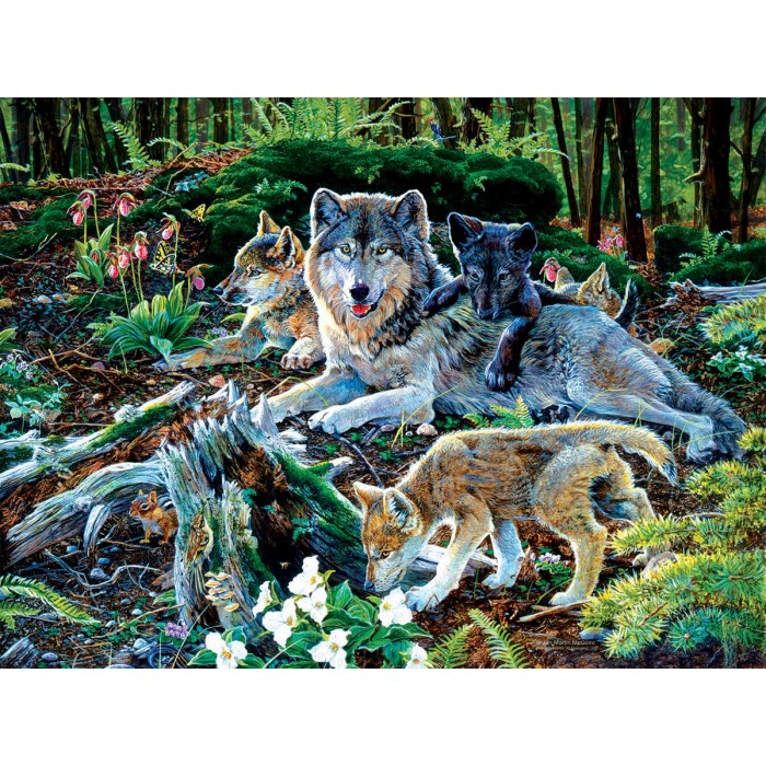 Jan Martin Mcguire - Forest Wolf Family