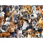 Puzzle  Sunsout-60930 XXL Teile - Dog World