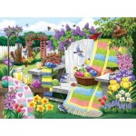 Puzzle  Sunsout-62948 Nancy Wernersbach - The Many Colors of Spring