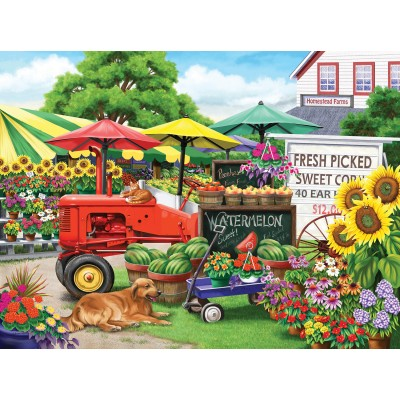 Puzzle Sunsout-63038 Nancy Wernersbach - Farm Stand Bounty