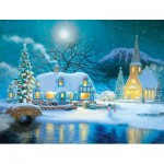Puzzle  Sunsout-65289 XXL Teile - Country Snowfall