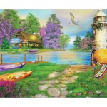 Puzzle  Sunsout-66510 Caplyn Dor - Seagull Bay