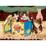 Puzzle  Sunsout-67278 Julie Bauknecht - Hat Box