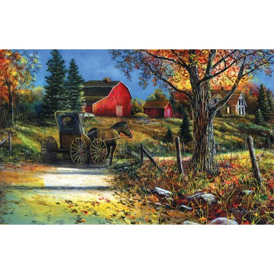 Puzzle Sunsout-67393 Jim Hansel - Country Roadside