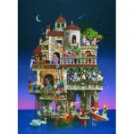 Puzzle  Sunsout-67592 James C. Christensen - Superstitions