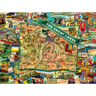 Puzzle Sunsout-70022 Ward Thacker Studio - Great Lakes
