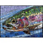 Puzzle  Sunsout-70711 Cynthie Fisher - Stained Glass Rainbow Trout