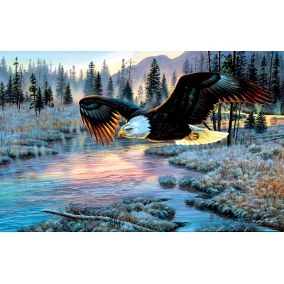 Puzzle Sunsout-70909 Cynthie Fisher - Eagle Dawn