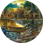 Puzzle  Sunsout-74106 Jim Hansel - Fall Cabin