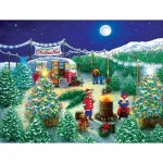Puzzle  Sunsout-76141 XXL Teile - A Lot of Christmas Trees