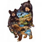 Puzzle  Sunsout-95732 Cynthie Fisher - Bear Family Adventure