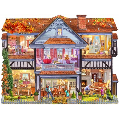 Puzzle Sunsout-96058 Steve Crisp - Autumn Country House
