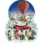 Puzzle  Sunsout-96087 XXL Teile - Barbara Behr - Old Fashioned Snow Globe