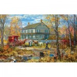 Puzzle   XXL Teile - Autumn at the Schneider House