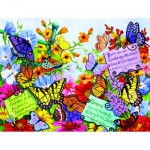 Puzzle   XXL Teile - Butterfly Oasis