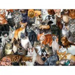 Puzzle   XXL Teile - Cat Collage