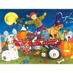 Puzzle   XXL Teile - Halloween Puppies
