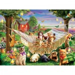 Puzzle   XXL Teile - Kittens Puppies and Butterflies