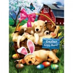 Puzzle   XXL Teile - Tom Wood - Sleepy Eyed Easter Egg Hunters